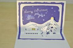 クリスマスカード Christmas card [Origamic Architecture , Pop up card , kirigmi , 折り紙建築 , ポップアップカード]