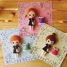 初めて参加させていただきます(^ ^)詳細はtourbillonさん♪へフェルトの人形セットやドール服、ドールめいたアクセサリーなど出品予定です♪どうぞよ... Tiny Dolls, Soft Dolls, Fun Crafts For Kids, Diy And Crafts, Felt Baby, Sewing Dolls, Creepy Dolls, Doll Crafts, Doll Clothes Patterns
