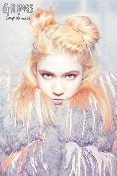Grimes cover-shoot for Coup de Main , issue 18 photo by Garth Badger make-up by Lochie Stonehouse hair by D&M Hair Design