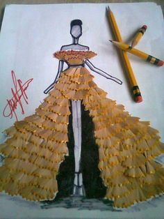 pencil shaving gown