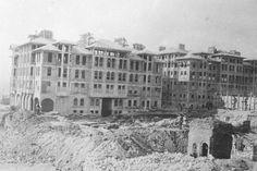Laleli'deki Eski Tayyare Apartmanları'nın inşaatı...Şu anda bu binalar otel olarak hizmet vermektedir