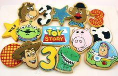 Toy Story Festa Toy Story, Toy Story Party, Toy Story Birthday, Cookies For Kids, Cute Cookies, Sugar Cookies, 3rd Birthday Parties, 4th Birthday, Birthday Ideas