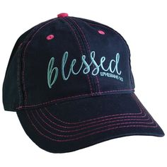 Blessed Cherished Girl Womens Cap DS - Navy