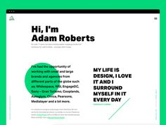 Recently I launched a new personal portfolio so if you've not already checked it out, I'd appreciate if you would and share your thoughts.  www.adamroberts.co  I'm also taking on freelance work! If...