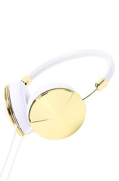 Frends Headphones Women's The Taylor Headphone in Gold & White, Headphones