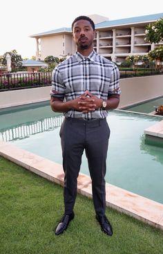 Michael B Jordan Men In Black, Handsome Black Men, Black Boys, Michael B Jordan Girlfriend, Michael Bakari Jordan, Fine Boys, Fine Men, Streetwear, Look Man