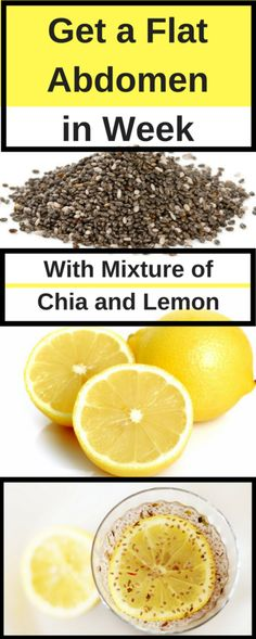 CONSUME A MIXTURE OF CHIA WITH LEMON AND YOU WILL GET A FLAT ABDOMEN IN 1 WEEK!