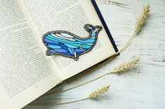 Whale Patch Iron Patches Ocean Iron on Patches Cute Patches Fabric Applique Iron on