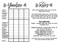 How to Make Giant Yard Dice + Free Printable Yardzee! – Our Handcrafted Life - Lawn Games Yard Games For Kids, Diy Yard Games, Kids Yard, Games For Teens, Adult Games, Outdoor Games For Adults, Giant Lawn Games, Kids Fun, Yahtzee Score Card