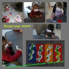 Marque page serpent