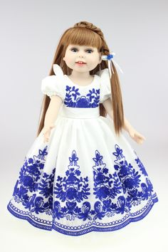 New design full vinyl doll american dollDollie& me fashion doll Our generation Free shipping #Affiliate
