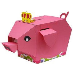 Moving Money Box: Pig,Home and Living,Paper Craft,pink,Mechanism,lucky charm,Moving,Money box,toy,pig