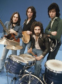 "10cc - Left to Right: Lol Cream, Eric Stewart, Kevin Godley, and Graham Gouldman. Their biggest hit was in 1975, ""I'm Not in Love."""