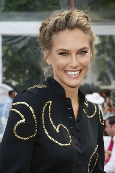 Bar Refaeli's pretty braided updo