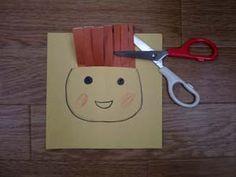 1~3歳児のための工作 「さんぱつ屋さん♪」 - 虹色教室通信