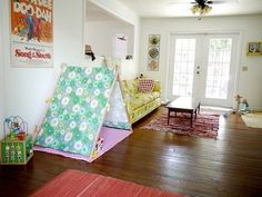 A great solution for kids play area in living room or office!