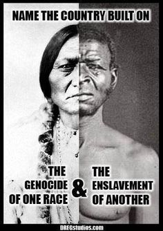 Genocide & enslavement. http://25.media.tumblr.com/tumblr_m5sgcc16BK1qhjt82o1_400.jpg    **& i have BOTH of these ethnicities in me!  /  **REMEMBER!>>> http://rt.com/politics/norway-extremism-russia-multiculturalism/ Native American History, American Indians, African American History, Lamas, The Dark Side, Nativity, Shit Happens, History Facts, Black History