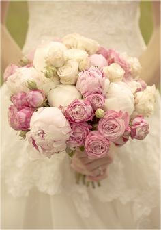 Pink bouquet | Image by Divine Day Photography, see more http://www.frenchweddingstyle.com/heart-warming-wedding-normandy/