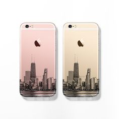 Chicago skyline iPhone 6 case iPhone 6s case clear by Decouart