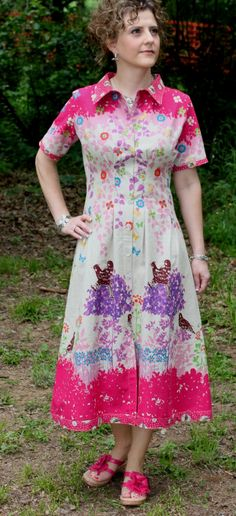 The second reveal of the new spring collection is the Sally Shirtdress. I love how this design came out! It was just as I had pictured it...