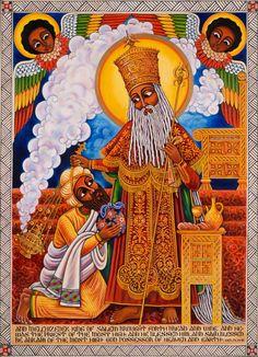 THE BLESSING - Oil on canvas  Copyright 2002 by Abba Yahudah www.abbayahudah.com