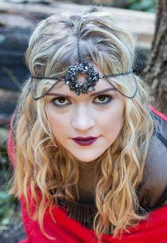 GOTHIC BLACK SWAROVSKI CRYSTAL 3 WAY HEAD PIECE Head Accessories, Head Piece, Swarovski Crystals, Gothic, Asos, Black, Women, Fashion, Moda