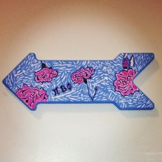 Pi Beta Phi Lilly Pulitzer print arrow craft #piphi #pibetaphi