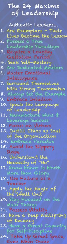 The Callan Course Maxims of Leadership. The 24 descriptors of Authentic Leadership. Learn the skills to be a great leader! www.callancourse.com
