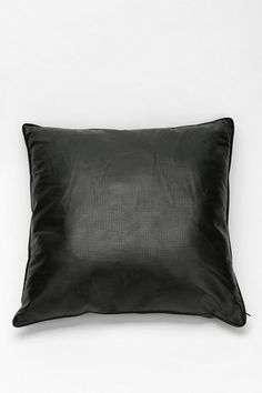 Perforated Vegan Leather Pillow