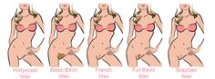 Different styles of Brazilian waxing | www.indusboutique.com