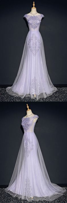 Only $158, Elegant Lilac Long Tulle Mermaid Formal Dress With Cap Sleeves Embroidery #MQD17021 at #SheProm. SheProm is an online store with thousands of dresses, range from Prom,Formal,Purple,A Line Dresses,Long Dresses and so on. Not only selling formal dresses, more and more trendy dress styles will be updated daily to our store. With low price and high quality guaranteed, you will definitely like shopping from us. Shop now to get $10 off!
