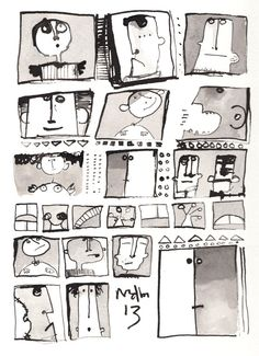 Neighbors  Ink Drawing On Paper by mellonfineart on Etsy, $50.00