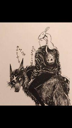 Original artist is Chiara Bautista. This work does not belong to me. Geeks, Chiara Bautista, Wolf Girl, Arte Horror, Fanart, Types Of Art, Dark Art, Love Art, Amazing Art