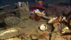 Titanic litter under the sea