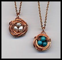 Nests in Copper. D.Worrell Mixed Media Art and Jewelry. http://www.facebook.com/DWorrellMixedMediaArtAndJewelry?ref=hl