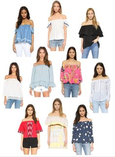 Spring trends - off the shoulder tops