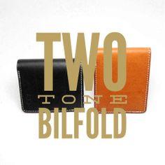 Two tone bilfold wallet  combine buffallohide on body and natural vegtan on interior  follow @hallodotmov on twitter