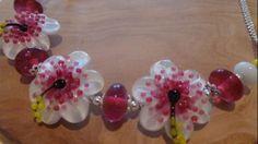 Hibiscus Frangipani Flower Necklace Glass Flowers, Handmade Jewellery, Flower Necklace, Hibiscus, Stud Earrings, Floral, Jewelry, Handmade Jewelry, Bijoux