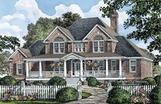 Country House Plan with 3139 Square Feet and 4 Bedrooms from Dream Home Source | House Plan Code DHSW075913
