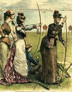 "Archery Practice on Staten Island"", by G.S. Reinhart. From: Harper's, August 3, 1878"