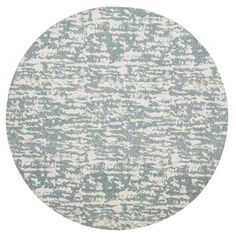 Safavieh Hand-Woven Marbella Blue/ Ivory Polyester Rug - x Round (Blue/Ivory - x Round) Round Area Rugs, Contemporary Area Rugs, Blue Ivory, Blue Grey, Displaying Collections, Simple Elegance, Rug Material, Woven Rug, Colorful Rugs