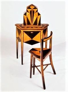 1927 Telephone Stand and Chair, maker unknown Art Deco Stil, Art Deco Home, Art Deco Furniture, Vintage Furniture, Unusual Furniture, Primitive Furniture, Urban Furniture, Distressed Furniture, French Furniture
