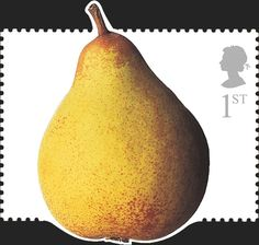 Royal Mail Special Stamps | Fun Fruit & Veg. Royal Mail DIY Stamps Pear