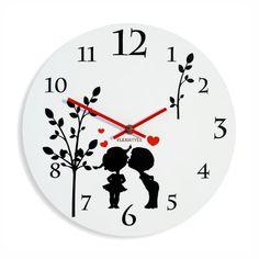 Biele detské hodiny na stenu okrúhle Clock, Watch, Clocks