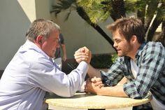Star Trek Kirk vs. Kirk - William Shatner and Chris Pine arm-wrestle