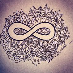 Don't really like how the infinity sign looks, but I love the patterns around it.