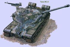 Тяжелый танк ИС-2 образца 1944 года (СССР)