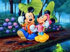 Cute. Mickey and Minnie Spring Time