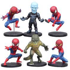 >> Click to Buy << 6pcs Plastic PVC  Marvel Spider-Man Spiderman Lizard Electro Figures Toy Decor Set #Affiliate