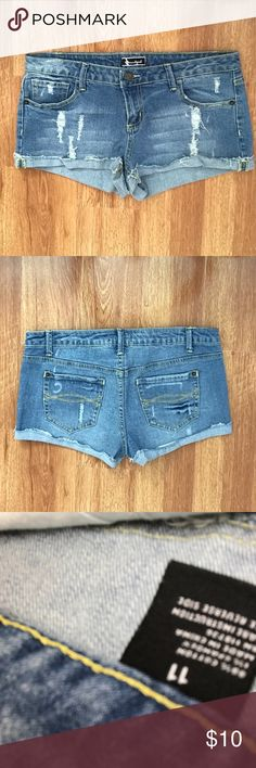 Soundgirl Jean Shorts Soundgirl shirt Jean shorts. Gently worn, like new. Zip and button with pockets in front, pockets in back. Soundgirl Shorts Jean Shorts